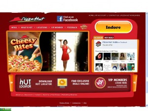 Pizza Hut India's CRM website