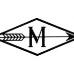 First company logo, self-designed in 1920 by KM. Symbolized reaching a target.