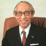 Konsuke Matsushita in his later years